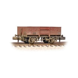 ** Graham Farish 377-956 x 2 13 Ton High Sided Steel Wagon (Chain Pockets) BR Bauxite (Late) Weathered