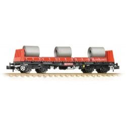** Graham Farish 377-900B x 2 BAA Steel Carrier Wagon with Coils Railfreight Red & Black