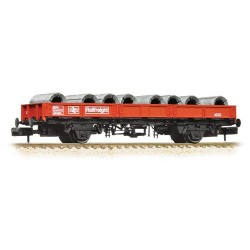 ** Graham Farish 377-725A x 2 SPA Wagon with Steel Coils Railfreight Red