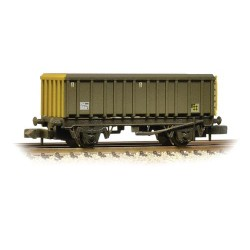 ** Graham Farish 373-576A x 2 46 Tonne glw MEA Open Box Wagon BR Railfreight Coal Sector Weathered