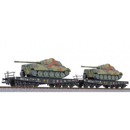 ** Liliput L230144 x 1 2-unit tank transport set