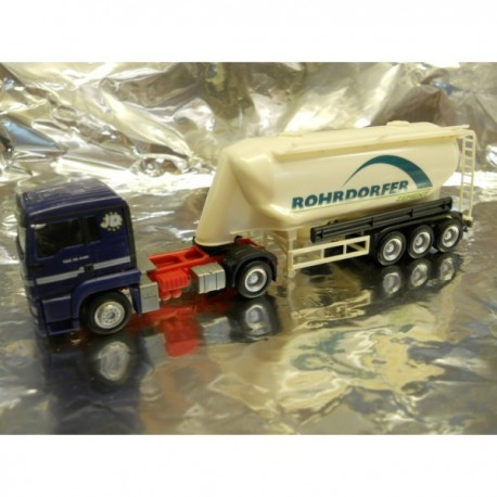 "** Herpa 902519  MAN TGS Silo Semitrailer ""Rohrdorfer Zement"""