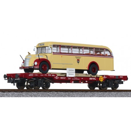 "** Liliput 235785 x 1 Flat Wagon with Bus ""Salzburger Stadtwerke"", oBB, Ep.IV"