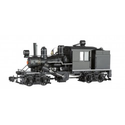 ** Bachmann 85097 x 1 Two-Truck Climax Black Unlettered White Trim