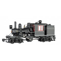 ** Bachmann 85098 x 1 Two-Truck Climax Black Unlettered Red & White Trim