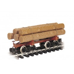 ** Bachmann 98490 x 1 Skeleton Log Car with Logs