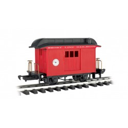 ** Bachmann 97088 x 1 Baggage Car Short Line Railroad Red With Black Roof