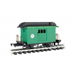 ** Bachmann 97092 x 1 Baggage Car Short Line Railroad Green With Black Roof