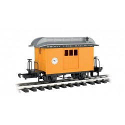 ** Bachmann 97096 x 1 Baggage Car Short Line Railroad Yellow With Silver Roof