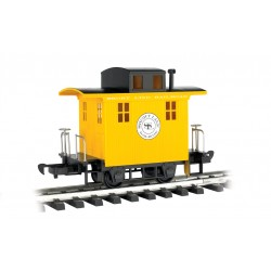** Bachmann 98087 x 1 Caboose Short Line Railroad Yellow With Black Roof