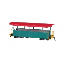 ** Bachmann 26001 x 1Open Excursion Car Green with Red Roof