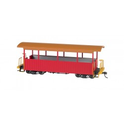 ** Bachmann 26002 x 1 Open Excursion Car Red with Tan Roof