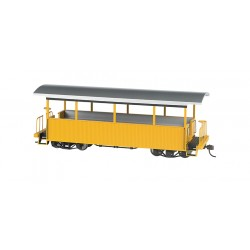 ** Bachmann 26003 x 1 Open Excursion Car Yellow with Silver Roof