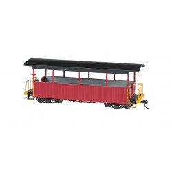 ** Bachmann 26004 x 1 Open Excursion Car Burgundy with Black Roof