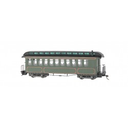 ** Bachmann 26202 x 1 Convertible Coach Olive Unlettered Gold Lining (Lighted)