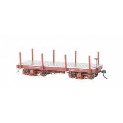 ** Bachmann 26511 x 118' Flat Cars Oxide Red, Data Only (2/Box)
