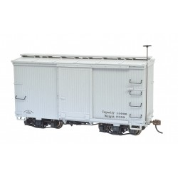** Bachmann 26553 x 1 18' Box Cars with Murphy Roof Grey, Data Only (2/Box)