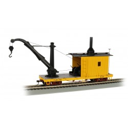 ** Bachmann 26502 x 1 Derrick Car MOW - Yellow