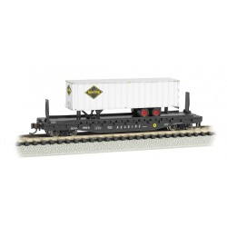 "** Bachmann 16754 x 1 52'6"" Flat Car Reading with Reading Trailer"