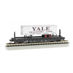 "** Bachmann 16755 x 1 52'6"" Flat Car Atlantic Coast Line with Yale Trailer"