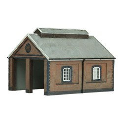 ** Graham Farish 42-0001 x 1 Scenecraft Two Road Brick Engine Shed (Pre-Built)