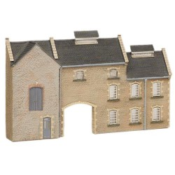 ** Graham Farish 42-219  x 1 Scenecraft Low Relief Stone Factory (Pre-Built)
