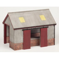 ** Bachmann 44-0022  x 1 Scenecraft Corrugated Goods Shed (Pre-Built)