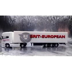** Herpa 294768 Scania R TL Eurokoffer Sattelzug Brit European N 1:160 Scale