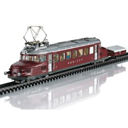 ** Marklin 37869 SBB RCe2/4 Electric Railcar & Ski Trailer III (MFX-Sound)