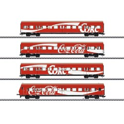 ** Marklin 43890 DBAG S Bahn Coca Cola Bi-Level Coach Set (4) V