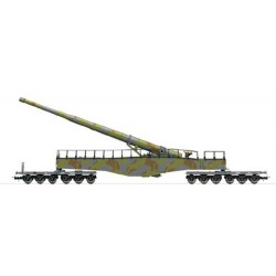 ** Rivarossi HR6451 DRB K5 Railway Gun Green/Brown Camouflage II