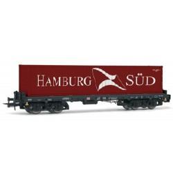 ** Rivarossi HR6404 DBAG Sgmms738 Hamburg-Sud Container Wagon V