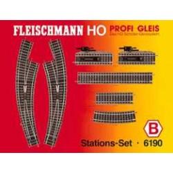** Fleischmann 6190 Profi Track Station Set B