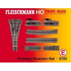 ** Fleischmann 6193 Profi Track Three Way Point Set E