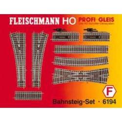 ** Fleischmann 6194 Profi Track Platform Set F