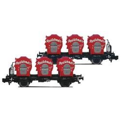 ** Fleischmann 823302 DB Resi-Schmelz Round Container Wagon Set (2) IV