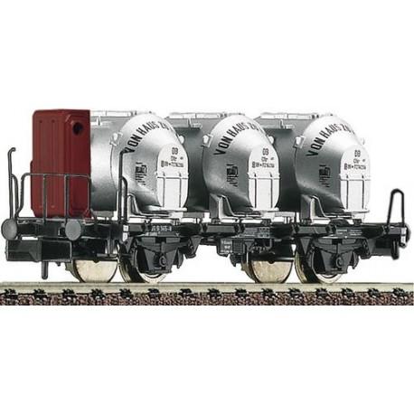 ** Fleischmann 823701 DB Bt10 Container Carrying Wagon III