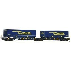 ** Fleischmann 825001 Wascosa T2000 Dbl Pocket Wagon LKW Walter VI