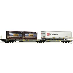 ** Fleischmann 825004 AAE T2000 Articulated Double Pocket Wagon VI