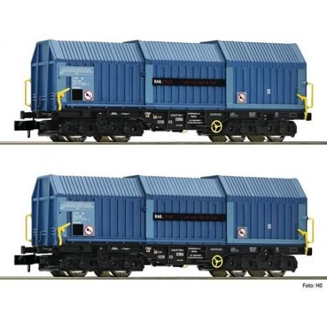 ** Fleischmann 837926 Raillogix Telescopic Hood Wagon Set (2) VI