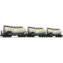 ** Fleischmann 846005 DBAG Zacens Bogie Tank Wagon Set Weathered (3) V
