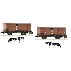 ** Fleischmann 881804 DB G10 Cattle Wagons with Cow Load Set (2) III