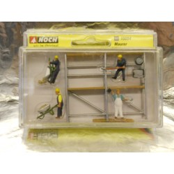 ** Noch 15054  Bricklayers (4) Scaffold and Accessories Figure Set