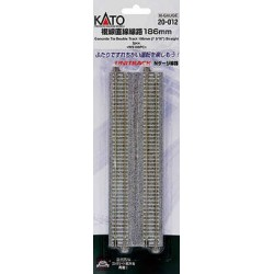** Kato 20-012 Unitrack (WS186PC) CS Dual Straight Track 186mm 2pcs