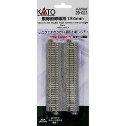 ** Kato 20-023 Unitrack (WS124PC) CS Dual Straight Track 124mm 2pcs