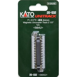 ** Kato 20-032 Unitrack (S64U) Straight Uncoupler Track 64mm