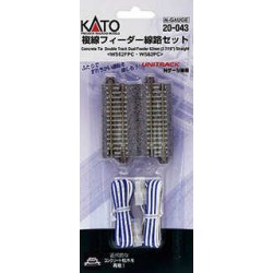 ** Kato 20-043 Unitrack (WS62FPC-WS62PC) CS Dual Straight Feeder Track 62mm