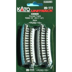 ** Kato 20-111 Unitrack (R282-15) Curved Track 15 Degree 4pcs