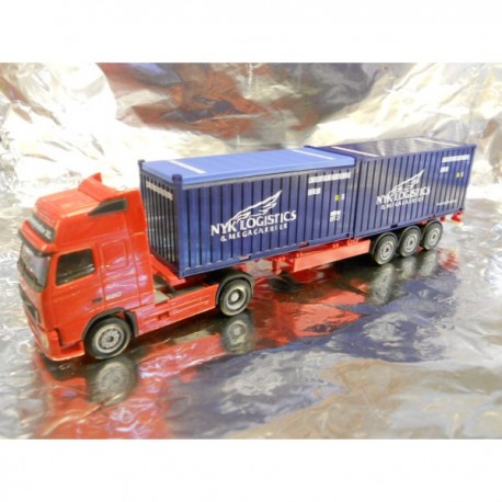 "** Herpa 154314 Volvo FH GL XL Semitrailer With 2 x 20ft Containers ""NYK"""