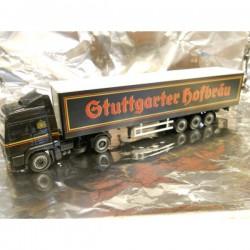 """** Herpa 148467  MAN TGA LX Curtain Trap Semitrailer """"Stuttgarter Hofbraeu"""""""